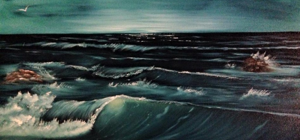 Bob Ross Black Seascape